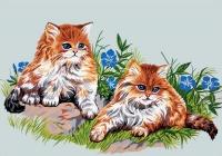 Gobelin L Tapestry/Needlepoint - Playful Cats