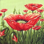 Gobelin L Tapestry/NeedlepointCanvas  - Poppy Cushion