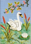 Gobelin L Tapestry/Needlepoint - Swan and Bulrushes