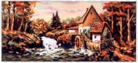 Gobelin L Tapestry/Needlepoint - The Water Mill