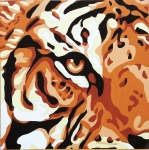 Gobelin L Tapestry/Needlepoint Canvas - Tiger Print