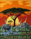 Gobelin L Tapestry/Needlepoint Canvas - Safari Scene