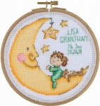 Goodnight Moon - 14 count Counted Cross Stitch Kit with Hoop