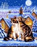 Grafitec Printed Tapestry/Needlepoint – A Winter's Night