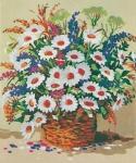 Grafitec Printed Tapestry/Needlepoint – Basket of Daisies
