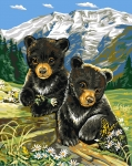 Grafitec Printed Tapestry/Needlepoint – Bear Cub in Spring