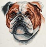 Grafitec Printed Tapestry/Needlepoint – Bull Dog