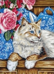 Grafitec Printed Tapestry/Needlepoint – Cat on the Shelf