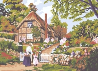 Grafitec Printed Tapestry/Needlepoint – Cottage Gate