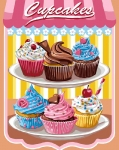 Grafitec Printed Tapestry/Needlepoint – Cup Cakes