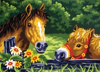 Grafitec Printed Tapestry/Needlepoint – Curious Ponies