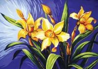 Grafitec Printed Tapestry/Needlepoint – Daffodils