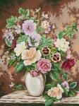 Grafitec Printed Tapestry/Needlepoint – Floral Arrangement
