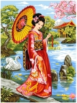 Grafitec Printed Tapestry/Needlepoint – Geisha Garden