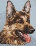 Grafitec Printed Tapestry/Needlepoint – German Shepherd (Alsatian)