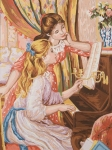 Grafitec Printed Tapestry/Needlepoint – Girls at the Piano