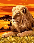 Grafitec Printed Tapestry/Needlepoint – King of the Realm (Lion)