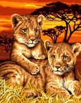 Grafitec Printed Tapestry/Needlepoint – Lion Cubs