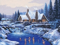 Grafitec Printed Tapestry/Needlepoint – Reflections in the Snow