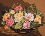 Grafitec Printed Tapestry/Needlepoint – Rose Bowl
