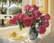 Grafitec Printed Tapestry/Needlepoint – Roses by the Window