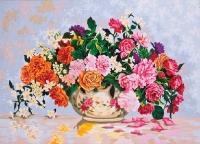 Grafitec Printed Tapestry/Needlepoint – Roses in a China Bowl
