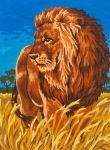 Grafitec Printed Tapestry/Needlepoint – Savannah King (Lion)