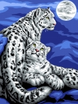 Grafitec Printed Tapestry/Needlepoint – Snow Leopards