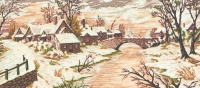 Grafitec Printed Tapestry/Needlepoint – Snow Scene