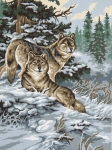 Grafitec Printed Tapestry/Needlepoint – Snow Wolves