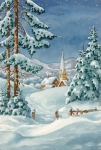 Grafitec Printed Tapestry/Needlepoint – Snowy Chapel