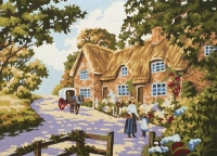 Grafitec Printed Tapestry/Needlepoint – Spring Cottage