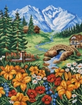 Grafitec Printed Tapestry/Needlepoint – Spring in the Mountains