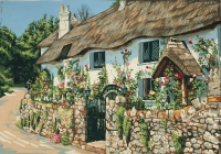 Grafitec Printed Tapestry/Needlepoint – Thatched Cottage