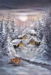 Grafitec Printed Tapestry/Needlepoint – Winter Village