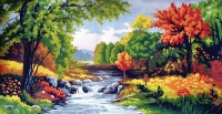 Grafitec Printed Tapestry/Needlepoint Canvas – Autumn Scene (L'automne)