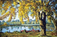 Grafitec Printed Tapestry/Needlepoint Canvas – Autumn by the Lake