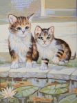 Grafitec Printed Tapestry/Needlepoint Canvas – Kittens at Play