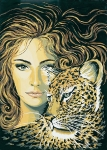 Grafitec Printed Tapestry/Needlepoint Canvas – Leopard Maiden