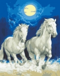 Grafitec Printed Tapestry/Needlepoint Canvas – Moonlight Gallop