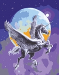 Grafitec Printed Tapestry/Needlepoint Canvas – Moonlight Pegasus