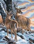 Grafitec Printed Tapestry/Needlepoint Canvas – Stag & Doe