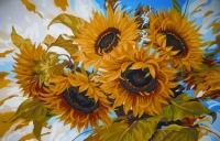 Grafitec Printed Tapestry/Needlepoint Canvas – Windswept Sunflowers