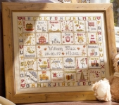 HS Counted Cross Stitch Sampler Kit – A is for Ark Birth Record