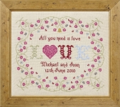 HS Counted Cross Stitch Sampler Kit – All You Need Is Love