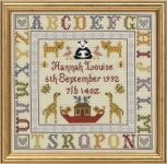 HS Counted Cross Stitch Sampler Kit – Alphabet Birth Sampler