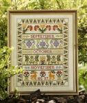 HS Counted Cross Stitch Sampler Kit – Autumn Band Sampler