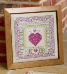 HS Counted Cross Stitch Sampler Kit – Bird & Heart Wedding Sampler