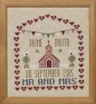 HS Counted Cross Stitch Sampler Kit – Chapel Wedding Sampler