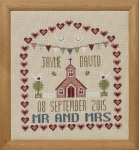 HS Counted Cross Stitch Sampler Kit – Chapel Wedding Sampler